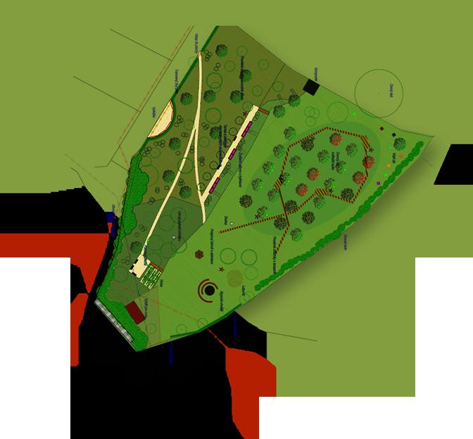 Plán Toušeňské zahrady